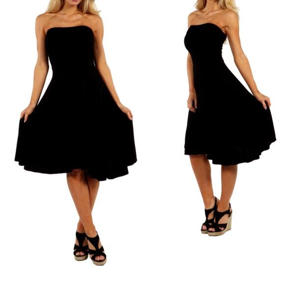 403d38a38866 White House Black Market Dresses | Black Strapless Dress | Poshmark